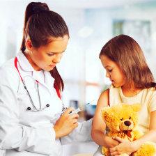 nurse doing immunization on a child