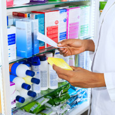 pharmacist finding the medicine
